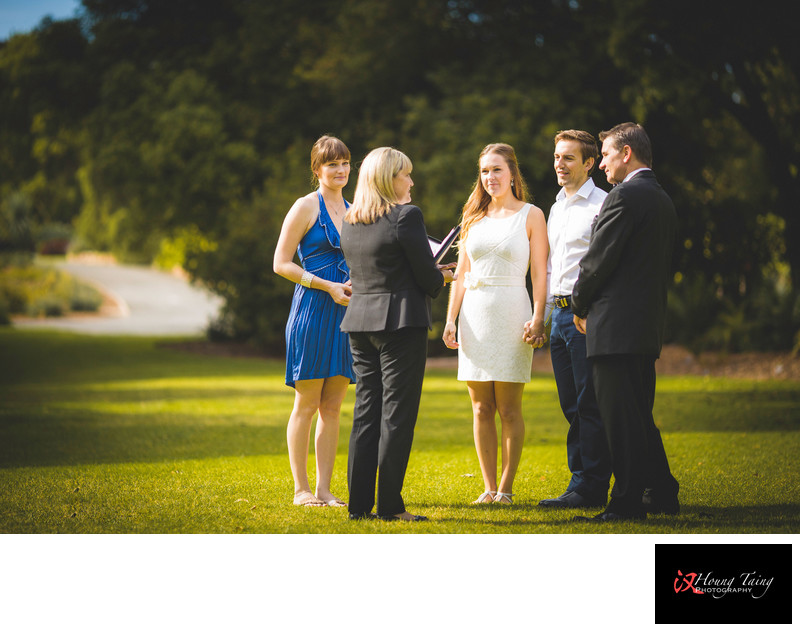 Wedding Ceremony At Adelaide Botanic Gardens, SA