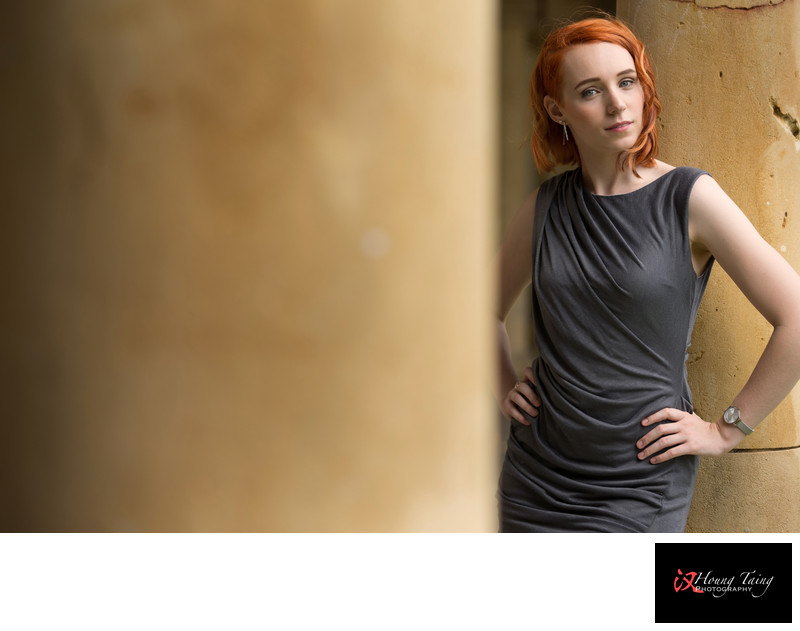 Female Red Hair Model Portrait At University Of Adelaide