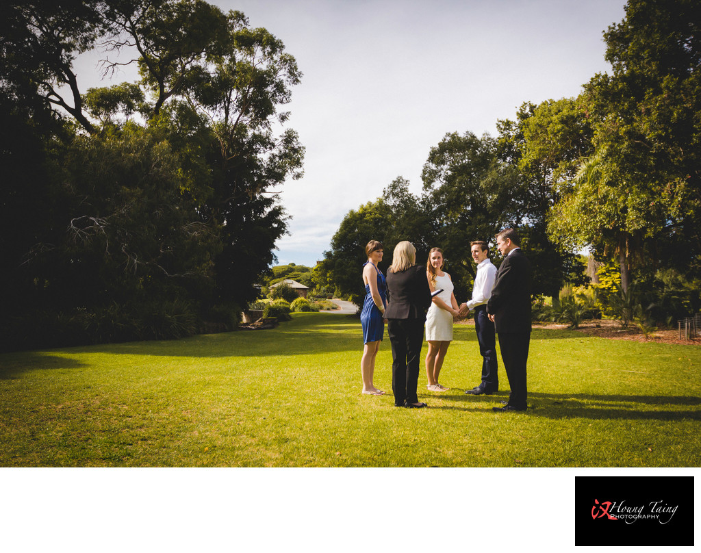Melbourne Garden Elopement Photography: Ceremony