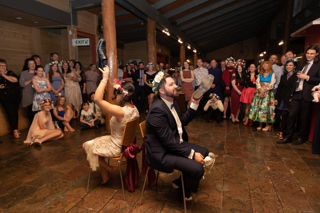 Fergusson Winery Rustic Wedding Reception Photographers