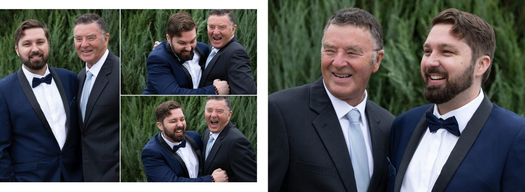 Brunswick Wedding Album: Groom & Dad