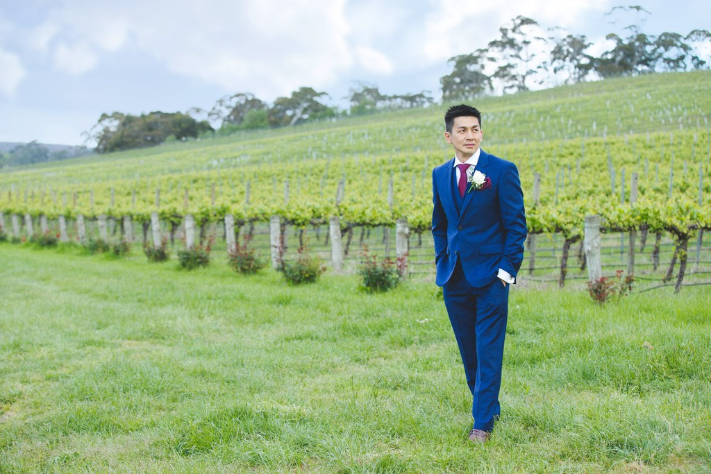 Wedding Photos at Goldings Winery: Groom Portrait
