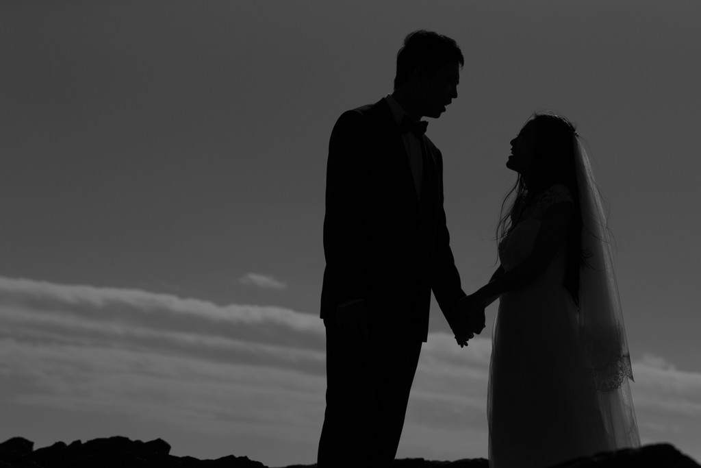 Melbourne Wedding Photographer: Silhouette Portrait