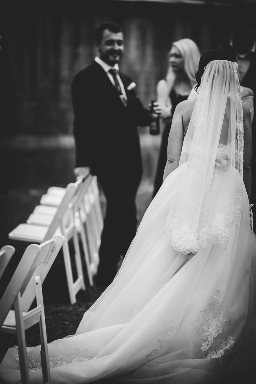 Black & white Melbourne Rustic Wedding Photography