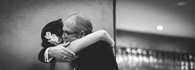 Bride & Father After Emotional Speech At Woodstock Winery