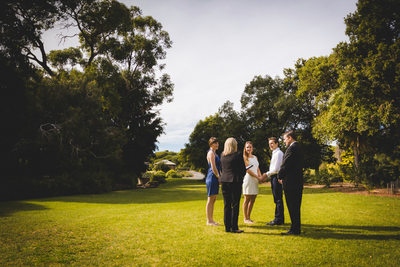 Intimate Garden Ceremony At Adelaide Botanical Gardens