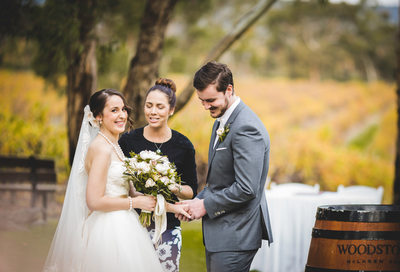 Wedding Ceremony At Woodstock Winery, South Australia