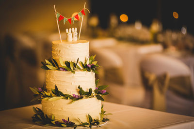Wedding Reception Cake At Woodstock Winery, McLaren Vale
