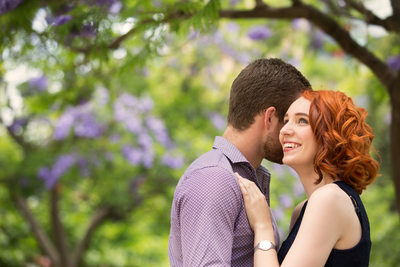 Environmental Couple Portrait At University Of Adelaide