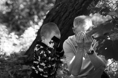 Fun Melbourne Family Photography: son and dad playing