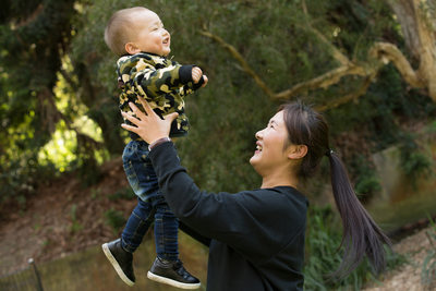 Natural Melbourne Family Photography: mom and son