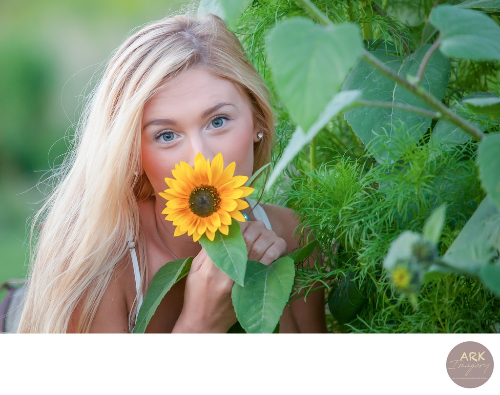 Fun Senior Portraits in Southern Maine