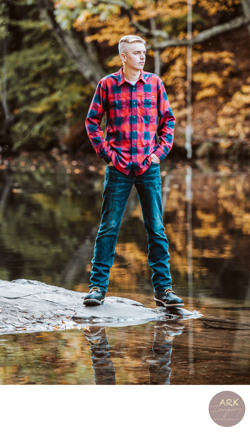 High School Senior Portraits in the Fall