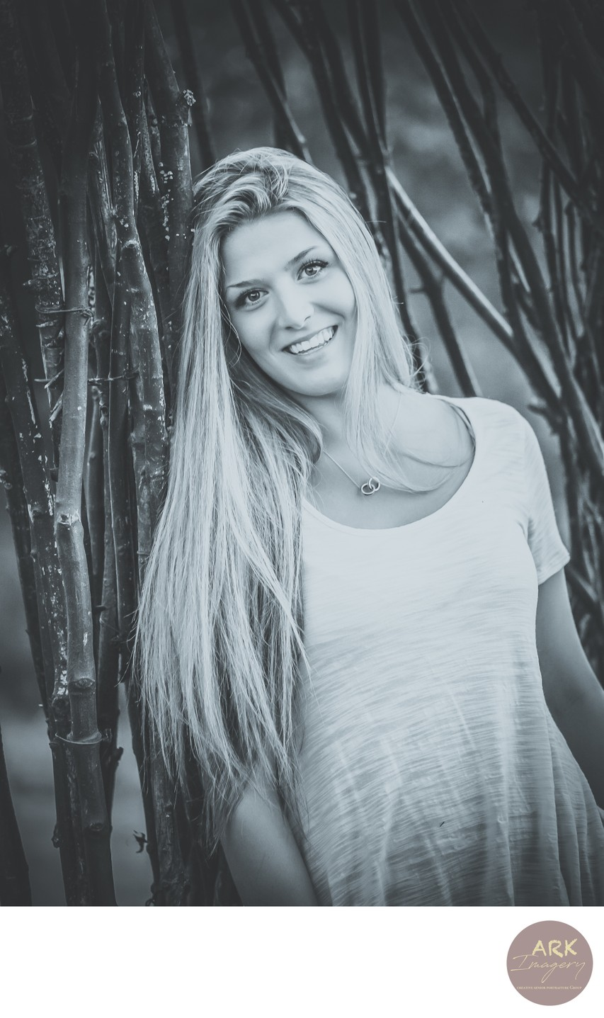 Black and White Senior Portraits