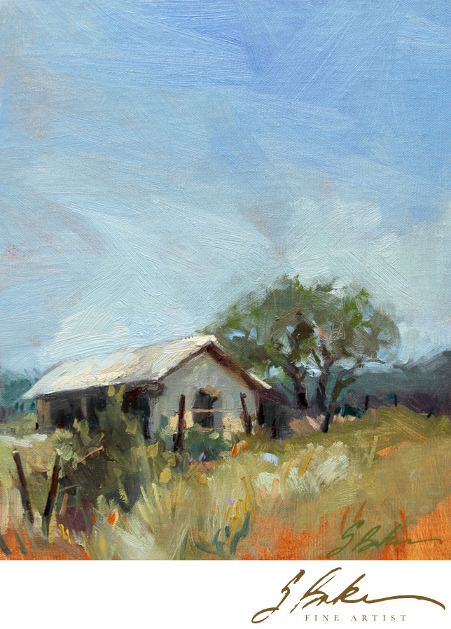 Hill Country Home, 10 x 8
