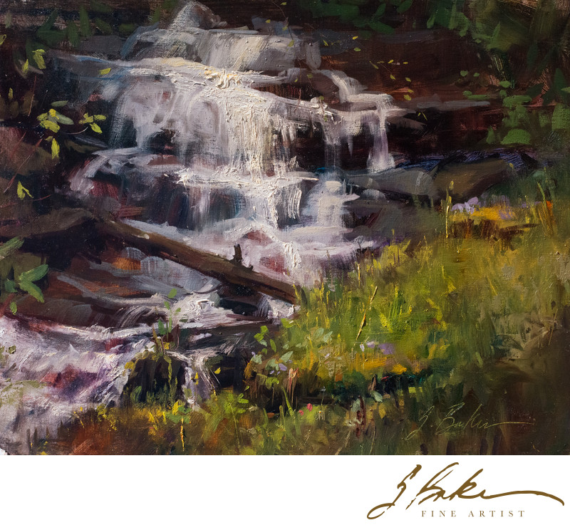 Spring Watertfall, 16x20