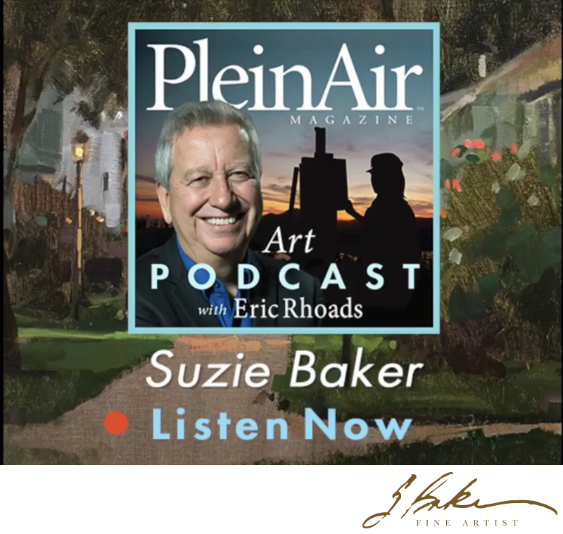 Plein Air Magazine Podcast with Eric Rhoads, Suzie Baker Interview