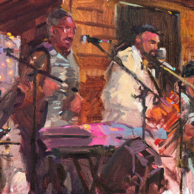 Terry and the Zydeco Bad Boys, 12x24