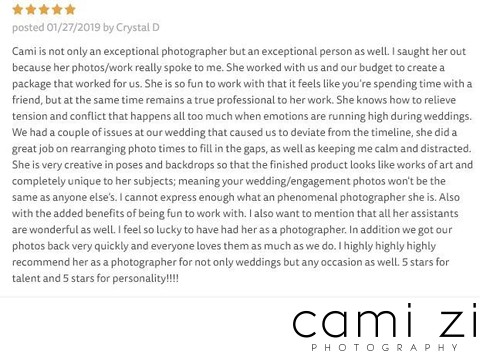 Exceptional Wedding Photographer