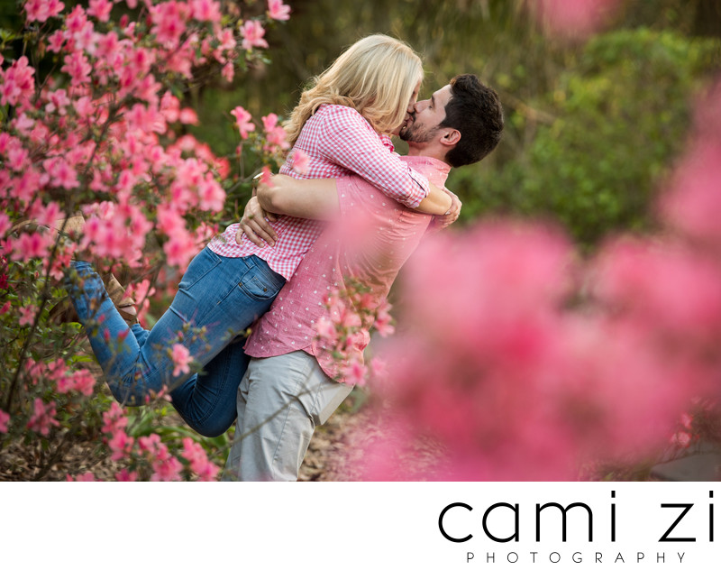 BOK Tower Blooming Engagement Session