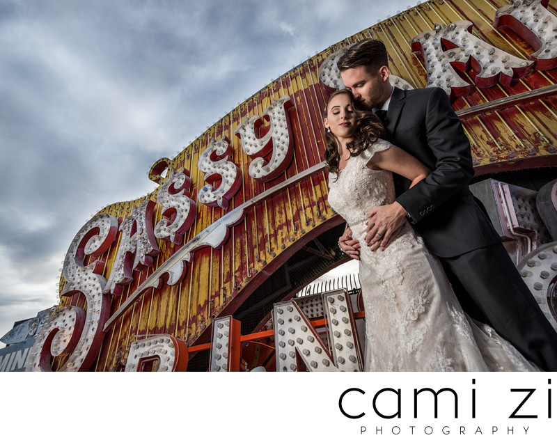 Neon Museum Wedding Photographer