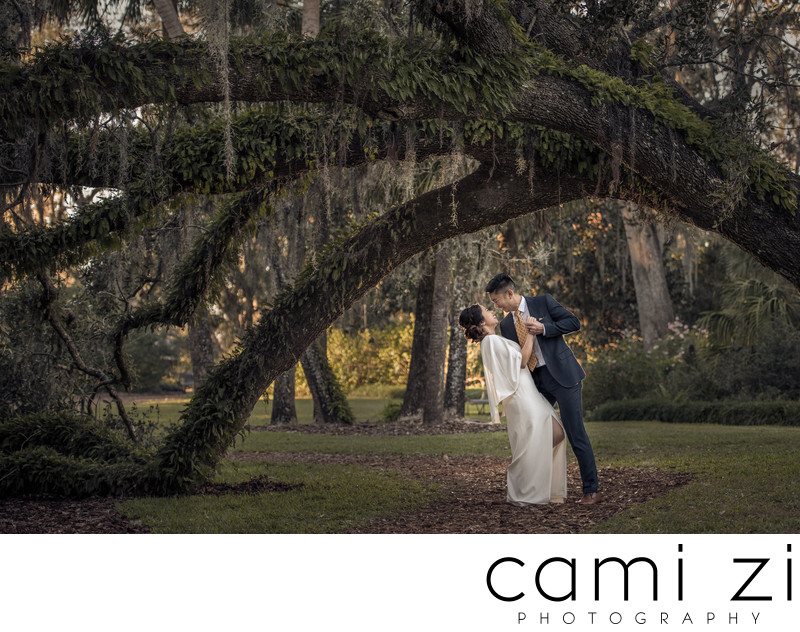 BOK Tower Engagement Portrait