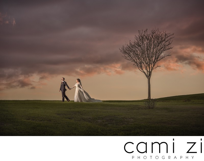 Bella Collina Sunset Wedding Portrait