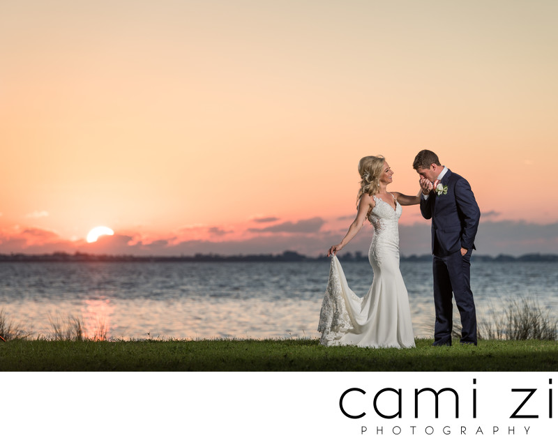 Sunset Wedding Portrait