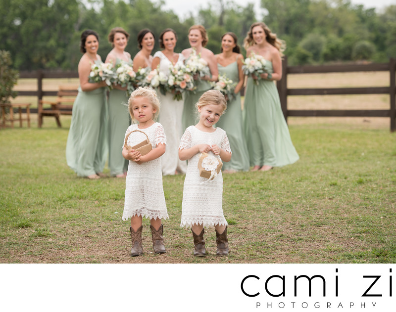 Country Wedding Flower Girls