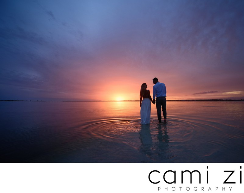 Wedding Photos with Amazing Sunsets