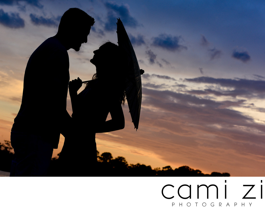 Engagement Silhouette in Pensacola
