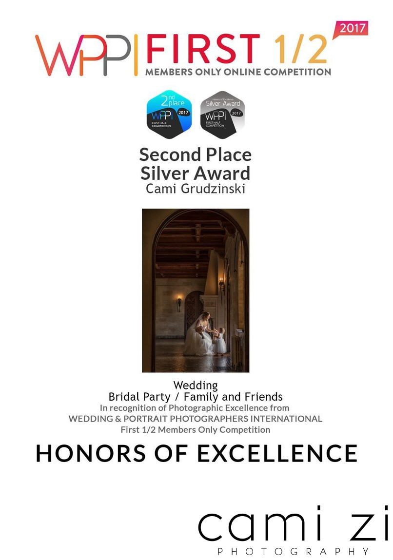 Second Place Silver Award Wedding Party Photo