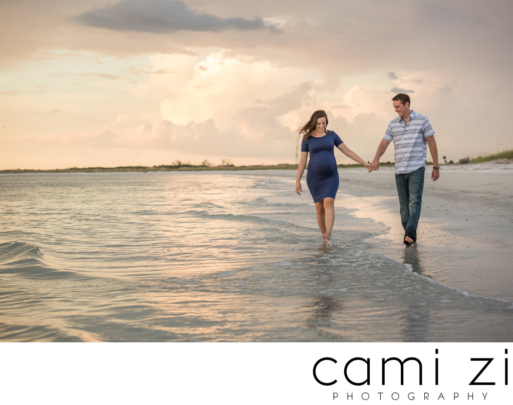 Gulf Breeze Family Maternity Beach Photo