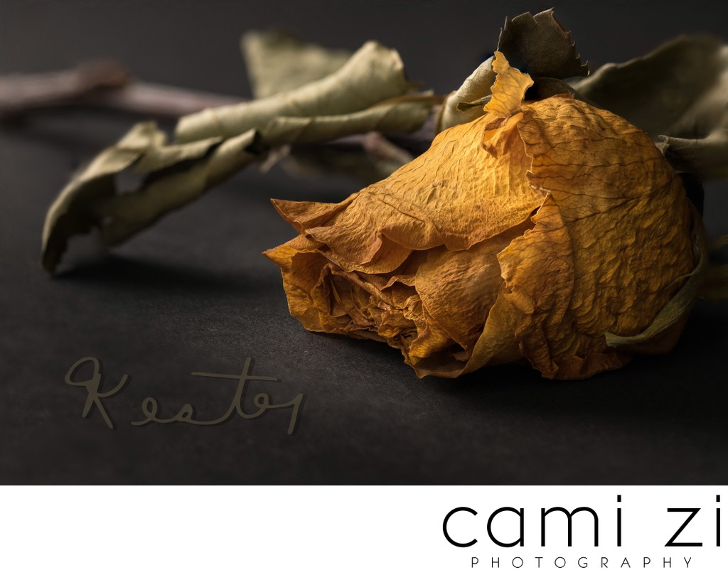 Dried Memorial Flower with Signature