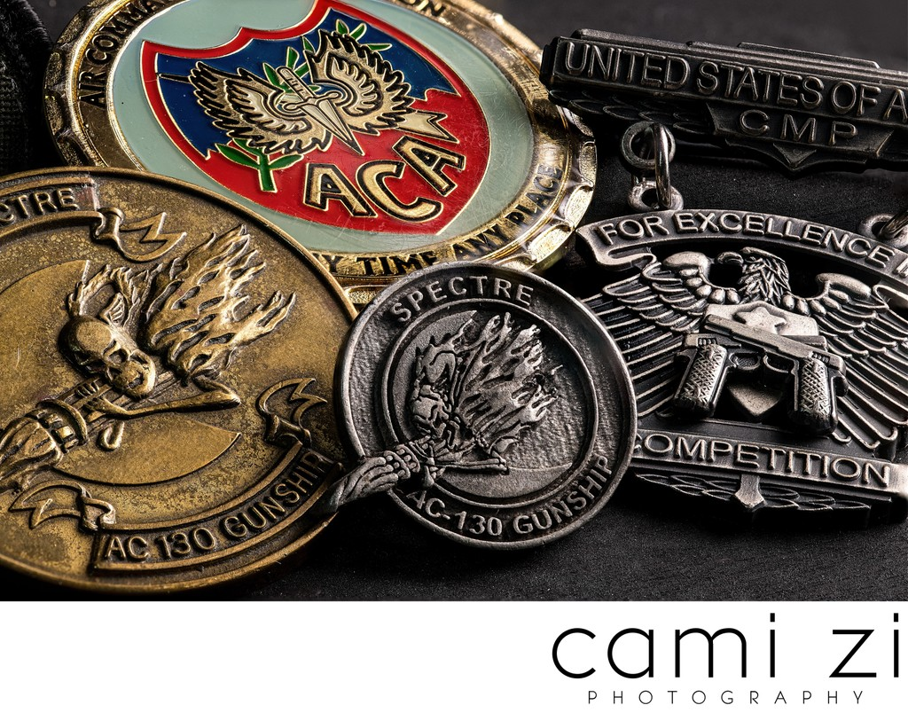Military Coin Collection Photographs