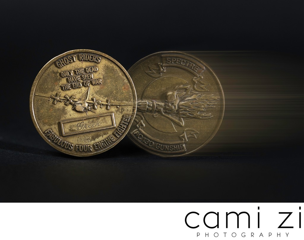 Military Coin Fine Art Photography for Memorialization