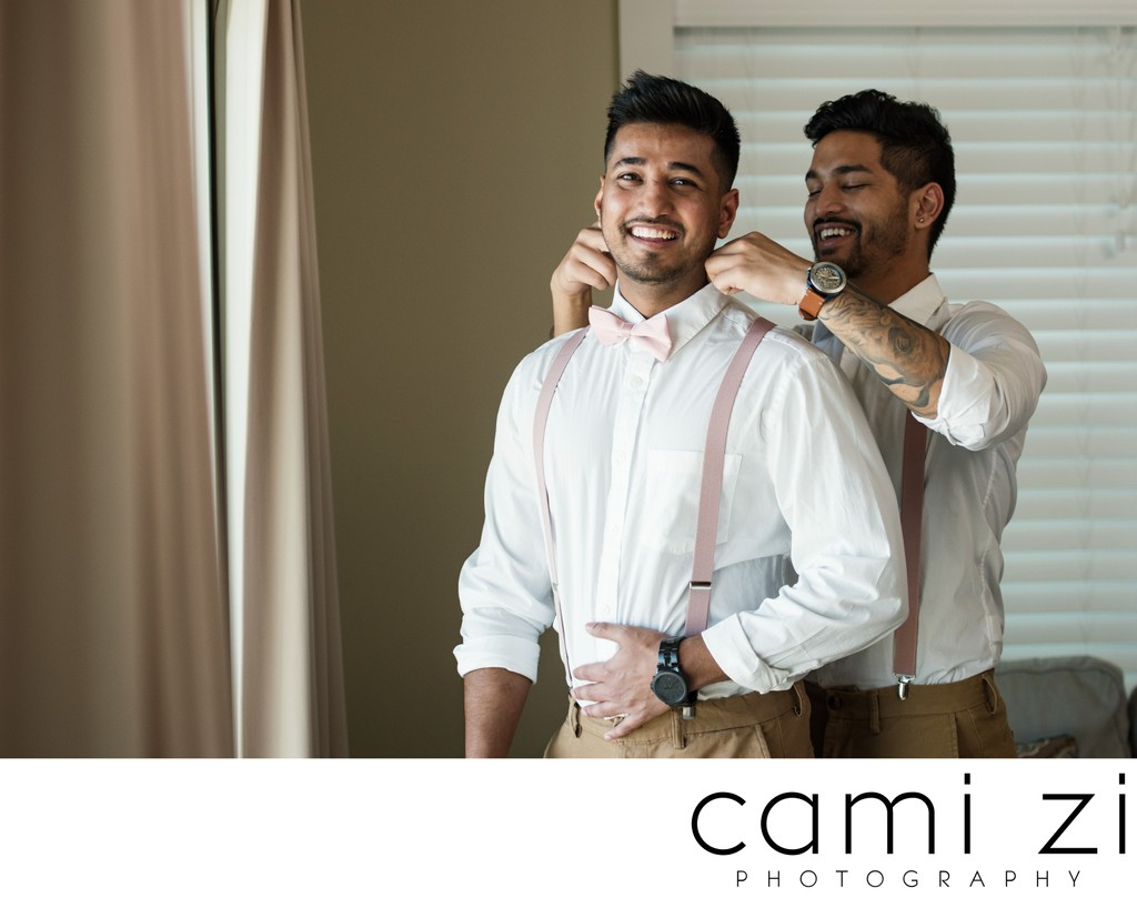 Groom Prep for Elopement
