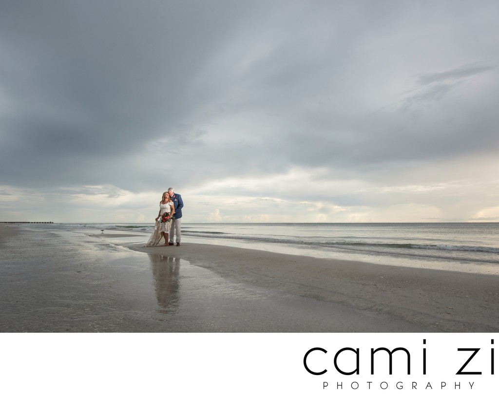 Dramatic Elopement Photos on the Gulf Coast