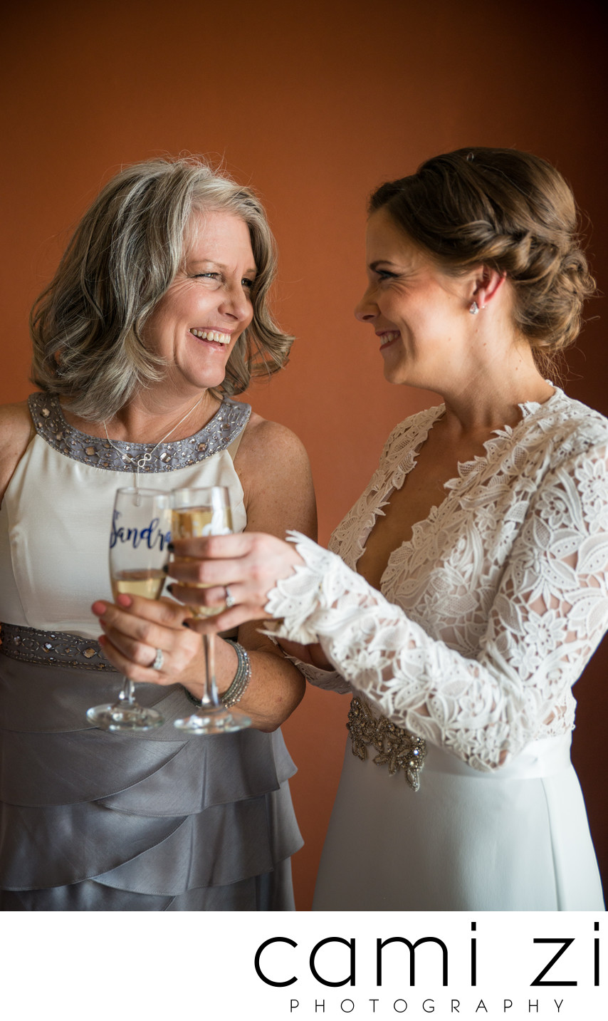 Bride and Mom Toast