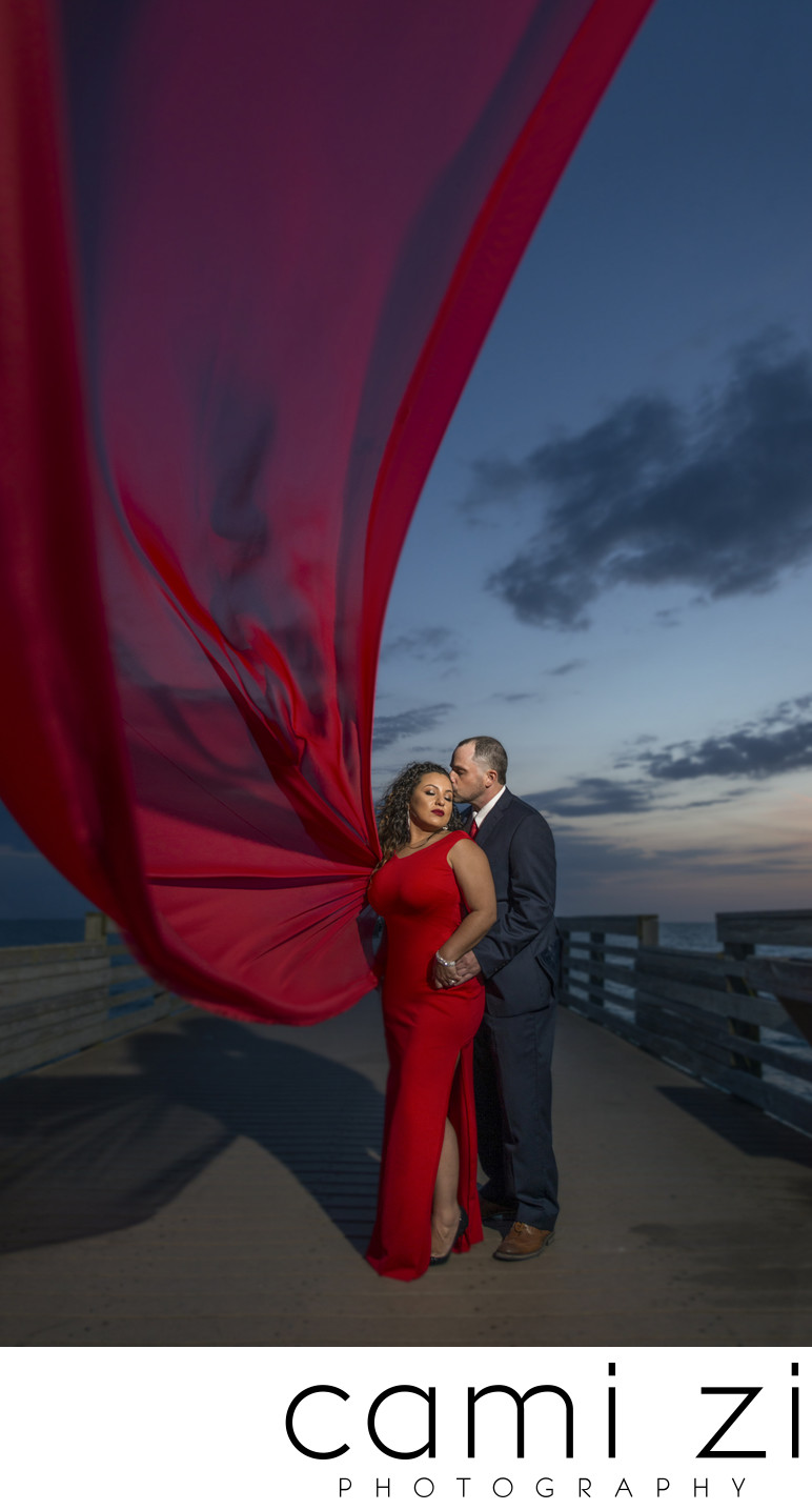 Sunset Engagement Navarre Beach Pier