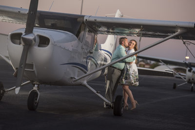 Engagement Photos with Personal Plane