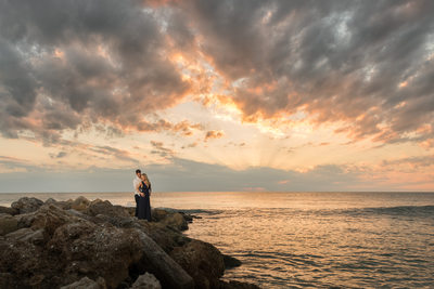 Jetty Sunset Engagement