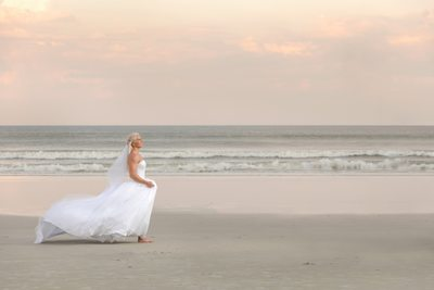 Florida Beach Wedding Bridal Portrait