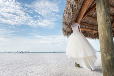Vera Wang Gown by the Sea