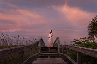 Best Pensacola Beach Sunset Maternity Photo
