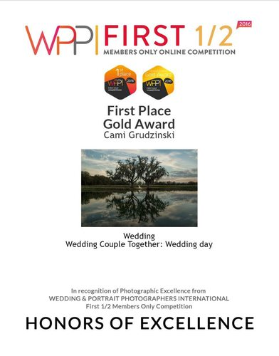 First Place Gold Award Wedding Couple Together