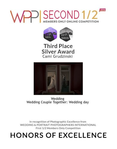 Third Place Silver Award Wedding Couple Together