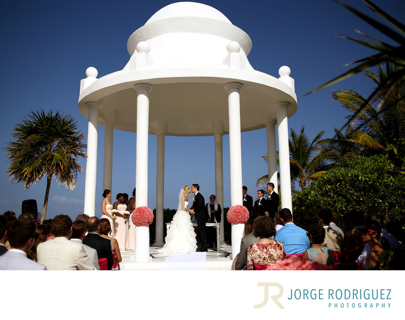 Grand Palladium Riviera Resort Spa Gazebo Wedding