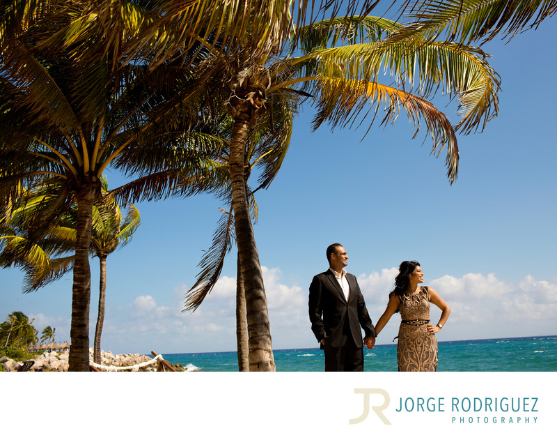 Xcaret Park Engagement Pictures