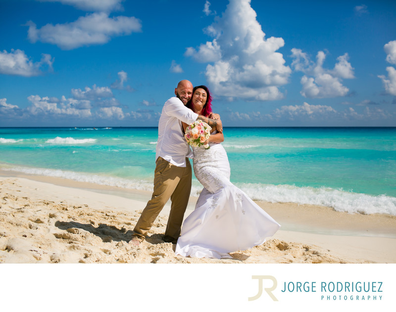 Vicky & John Beach Wedding Secrets The Vine Cancun Mexico